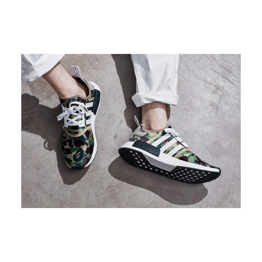 1e234371caab0 Adidas Bape X NMD R1 Olive Green - Top-quality Adidas NMD online