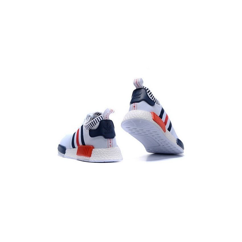 1445ef63253bf Adidas Originals NMD R1 Runner Primeknit Mens White Blue Red - Great ...