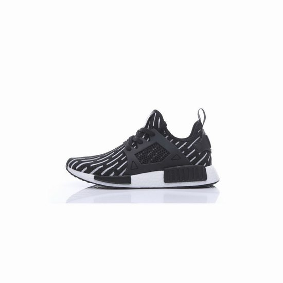 adidas originali nmd rt runner primeknit mens nero / bianco buono